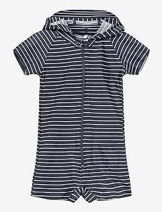 UV Swim Boy Suit Stripe - stroje kąpielowe uv - blue