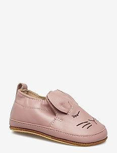 Luxury Leather Shoe - Rabbit - slippers - alt rosa