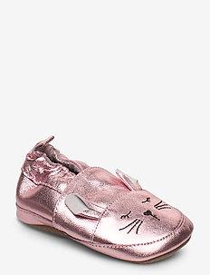 Leather Shoe - Rabbit - slippers - blush rose