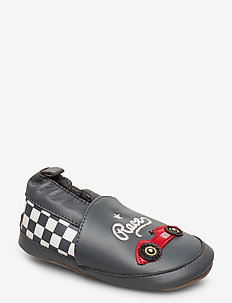 Leather Shoe - Race - slippers - dark charcoal grey