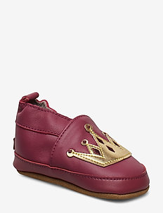 LEATHER Shoe - Crown - slippers - rouge red