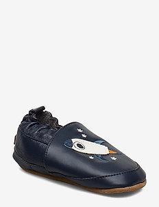 LEATHER Shoe - Rocket - slippers - marine