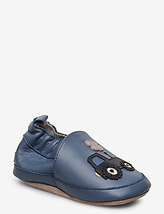 Leather Shoe - Tractor - slippers - china blue