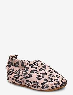 Leather Shoe - Leopard - slippers - alt rosa