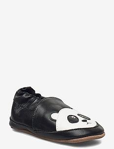 Leather Shoe - Panda - slippers - black