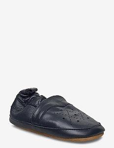 Leather Shoe - Animal Skin - slippers - marine