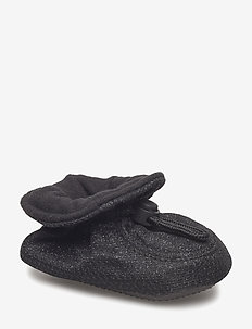 Glitter Booties - slippers - black glitter