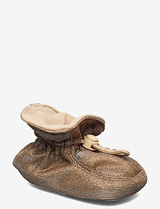 Glitter Booties - slippers - gold