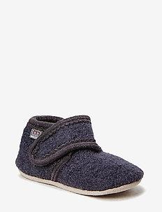 Wool soft shoe w/velcro - schuhe - 189/antrazite