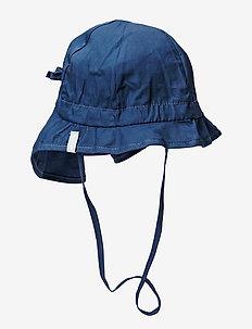 Hat w/neck & ties - Solid - kapelusz przeciwsłoneczny - 285/marine