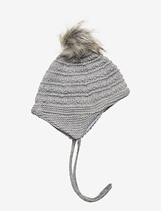 WOOL Hat Baby - LIGHT GREY MELANGE