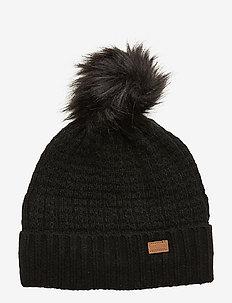 LAMB WOOL Hat w. Structure - BLACK