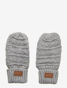 WOOL Mittens Baby - gloves - light grey melange