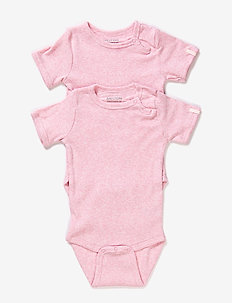 Numbers 2-pack SS Rib Body - À manches courtes - baby rose