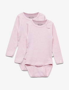 Numbers 2-pack LS Rib Body - długie rękawy - 503 / blush rose