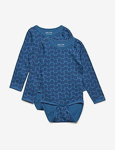 Numbers, 2-pk LS AOP Body - 287 BLUE NIGHTS