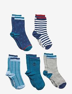 NUMBERS 5-pack Socks - Boys - DARK MARINE