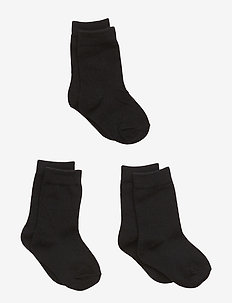 Numbers 3-pack Socks - Single col - 190 / BLACK