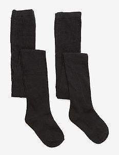 Numbers 2-pack Tights - Single - strømpebukser - 190/black