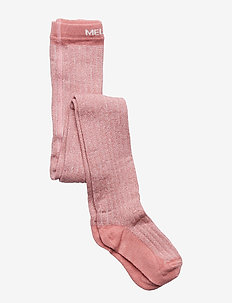 Bamboo Tights w. Lurex Solid Col - DUSTY ROSE