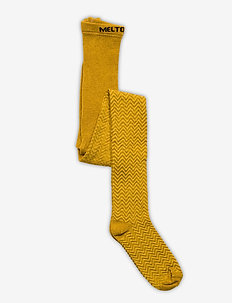 Bamboo/Wool Tights Structure - rajstopy - yellow