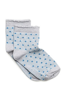 Sock - Small Dots w/gold lurex - 204 LIGHT BLUE