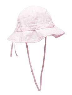 Hat w/brim & bow - Solid col - 504/BABYPINK