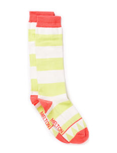 Knee-high, Triangle & Stripe - 532/SOFT MELON
