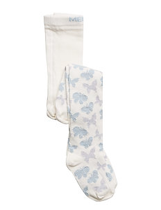 Babytights, Butterfly w/Lurex - 204 LIGHT BLUE