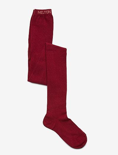 Leather Shoe - Velcro - non-slip socks - red