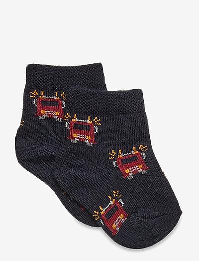 Baby Sock - Nuts & Leaves - socks - marine