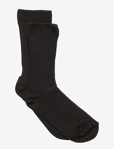 Sock - Rib - All Sizes - skarpetki - black