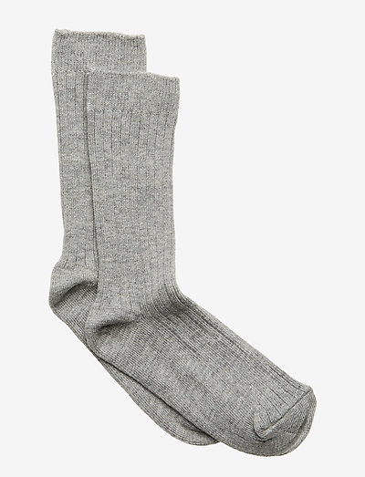 Sock - Rib - All Sizes - skarpetki - light grey melange