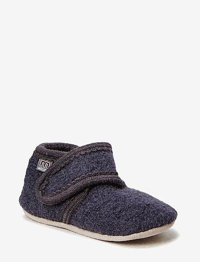 Wool soft shoe w/velcro - 189/antrazite
