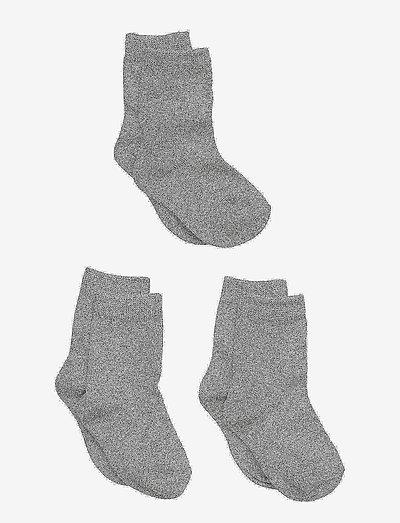 3-pack cotton socks - strømper - 135 / light grey melange