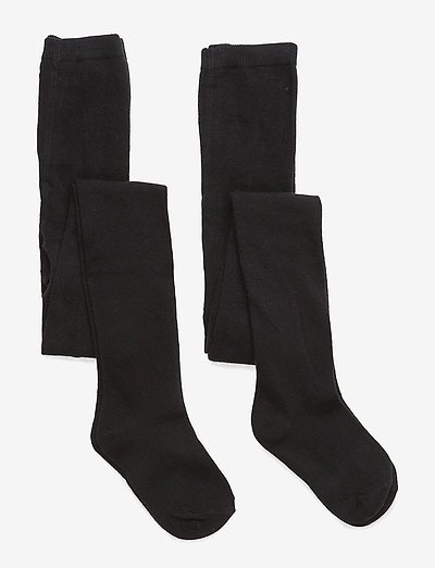 2-pack cotton tights - tights - 190/black