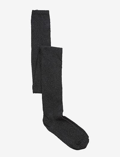 Tights, one colured - strømpebukser - dark grey melange