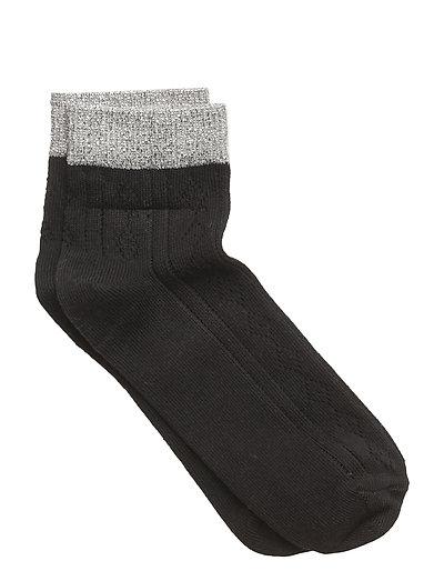 Sock - Needledrop w/Lurex - BLACK