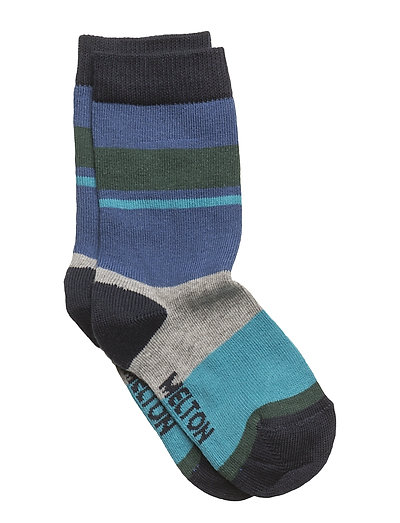 Sock - Block Stripes - ROYAL BLUE