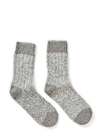 Sock - Wool Lurex Rag - 135/LIGHT GREY MELANGE