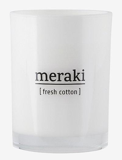 Scented candle, Fresh cotton - dufte - no coluor