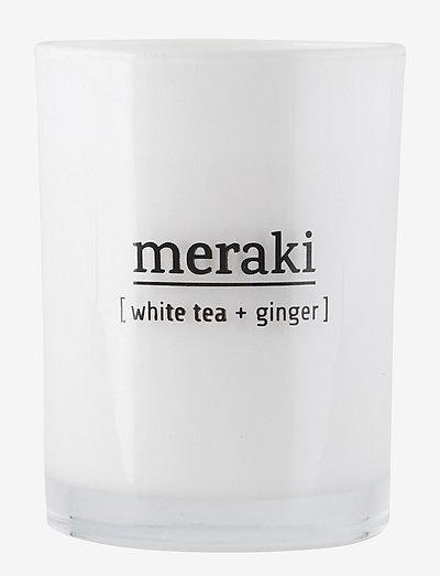 Scented candle, White tea & ginger - doftljus - no coluor