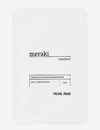 Facial mask, Sensitive - sheet mask - no coluor