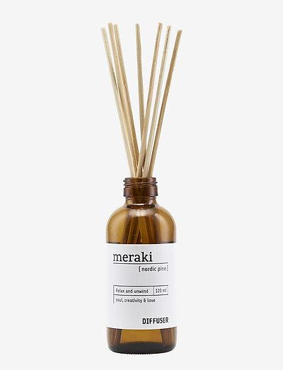 Diffuser w. 7 sticks, Nordic pine - dufte - no coluor