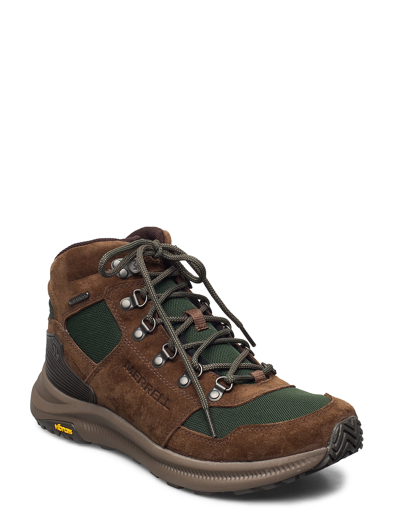 Image of Ontario 85 Mid Wp Forest Shoes Sport Shoes Outdoor/hiking Shoes Brun Merrell (3446399677)