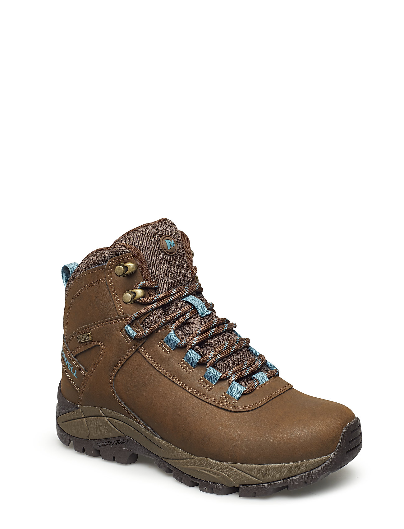 Image of Vego Mid Lthr Wtpf Black/Gloxinia Shoes Sport Shoes Outdoor/hiking Shoes Brun Merrell (3443241319)