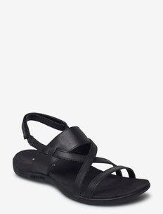 District Hayes Strap LTR Black - flade sandaler - black