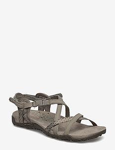 Terran Lattice II Taupe - flate sandaler - taupe