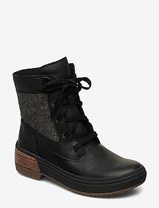 Haven Mid Lace WP - niski obcas - black
