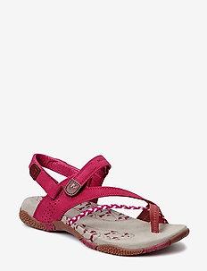 Siena Raspberry - flat sandals - raspberry